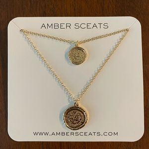 Jewelry - Amber Sceats Double Coin Gold Necklace